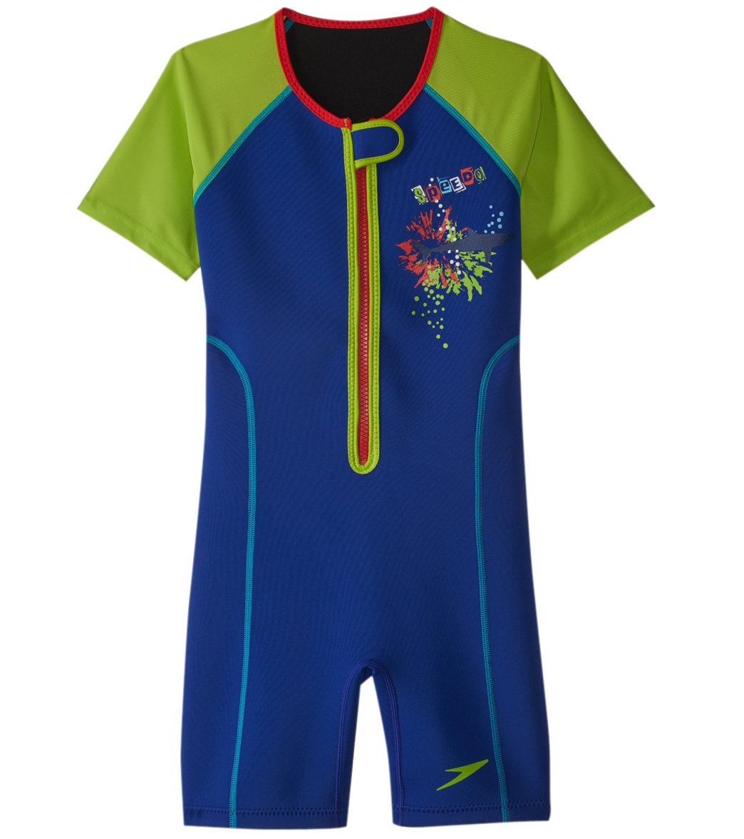 cd18e70965 Speedo Boys' UPF 50+ Thermal Suit (2T-10) at SwimOutlet.com