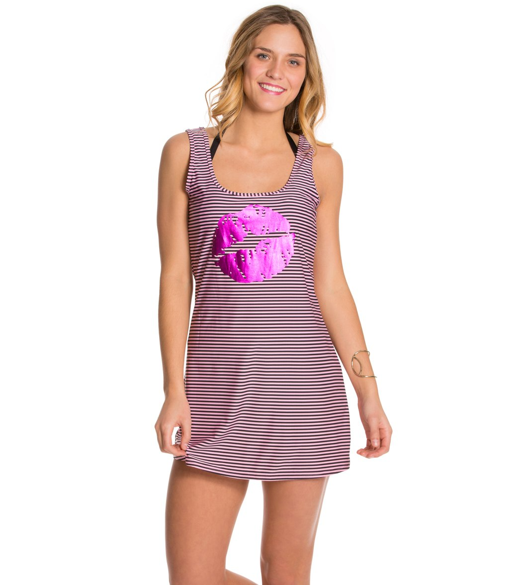 4f1ba291c81b4 Betsey Johnson Kiss Cover Up Swim Dress at SwimOutlet.com - Free ...