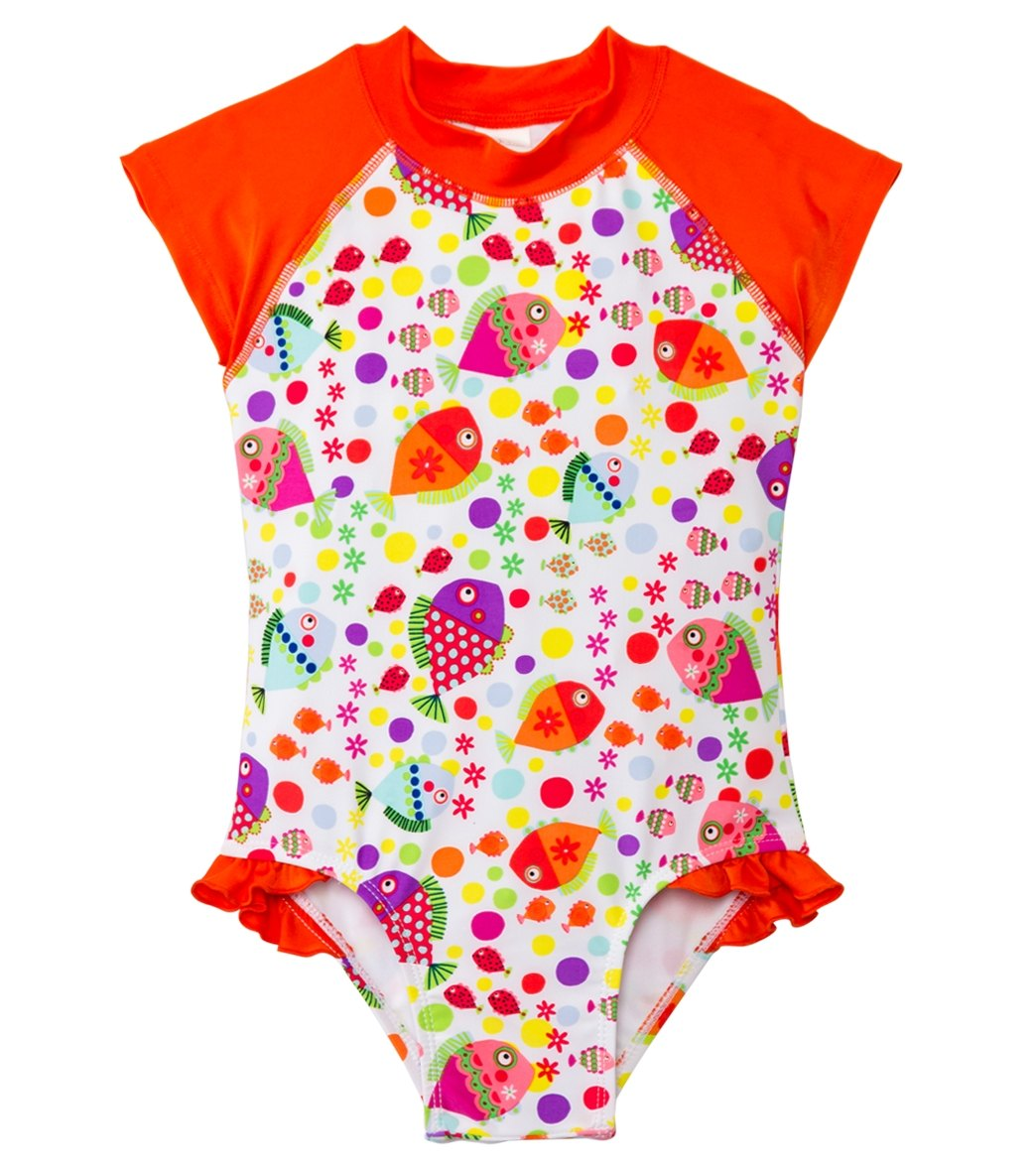 17cd3690cfd2f SnapMe Girls' Lucy Fish S/S Ruffle One Piece (6mos-4T) at ...