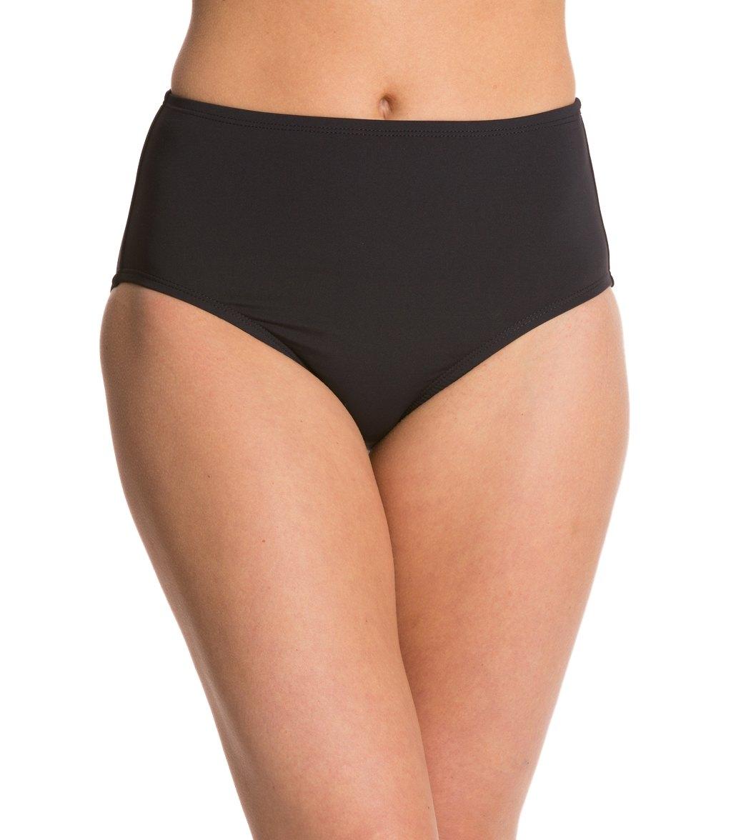 adc35e706154f ... Anne Cole Color Blast Solids High Waist Bikini Bottom. Play Video.  MODEL MEASUREMENTS