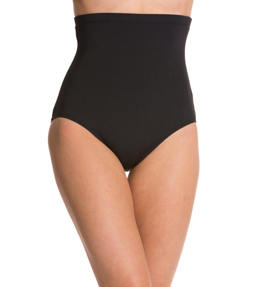 00e521990793c Anne Cole Color Blast Solids Super High Waist Bikini Bottom at  SwimOutlet.com - Free Shipping