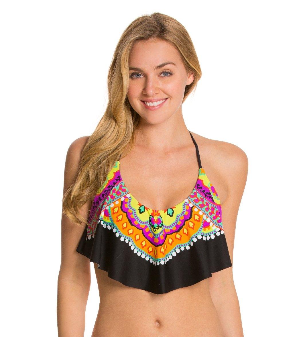 e0db055b76387 ... Trina Turk Nuevo Sol Halter Crop Bikini Top. Play Video. MODEL  MEASUREMENTS