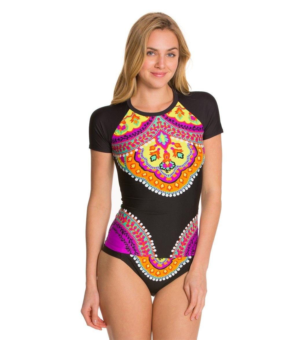 ed7927bc14 Trina Turk Nuevo Sol Covers S/S Rashguard at SwimOutlet.com - Free ...