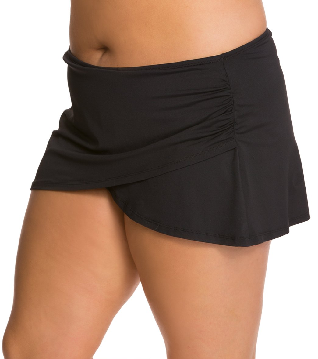 d83726ed01 Anne Cole Plus Size Solids Sarong Swim Skirt at SwimOutlet.com - Free  Shipping