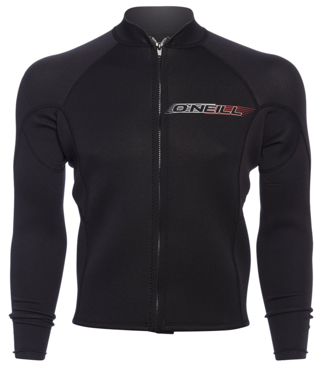 79fd5dd597b5 O'Neill Men's 2MM Superlite Front Zip Long Sleeve Wetsuit Jacket at  SwimOutlet.com - Free Shipping
