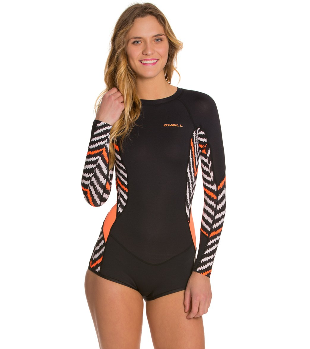 O Neill Women S Skins Long Sleeve Surf Spring Suit Wetsuit