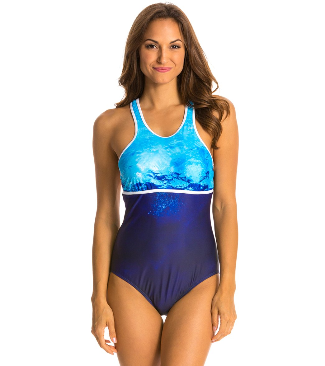 07abae705d Nautica H2O Active Into the Blue Racerback Soft Cup One Piece ...