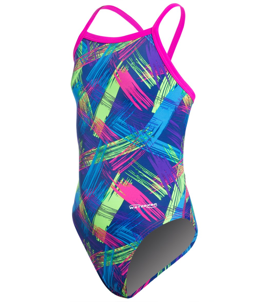 ad805c7dc8457 Waterpro Neon Youth One Piece Swimsuit at SwimOutlet.com