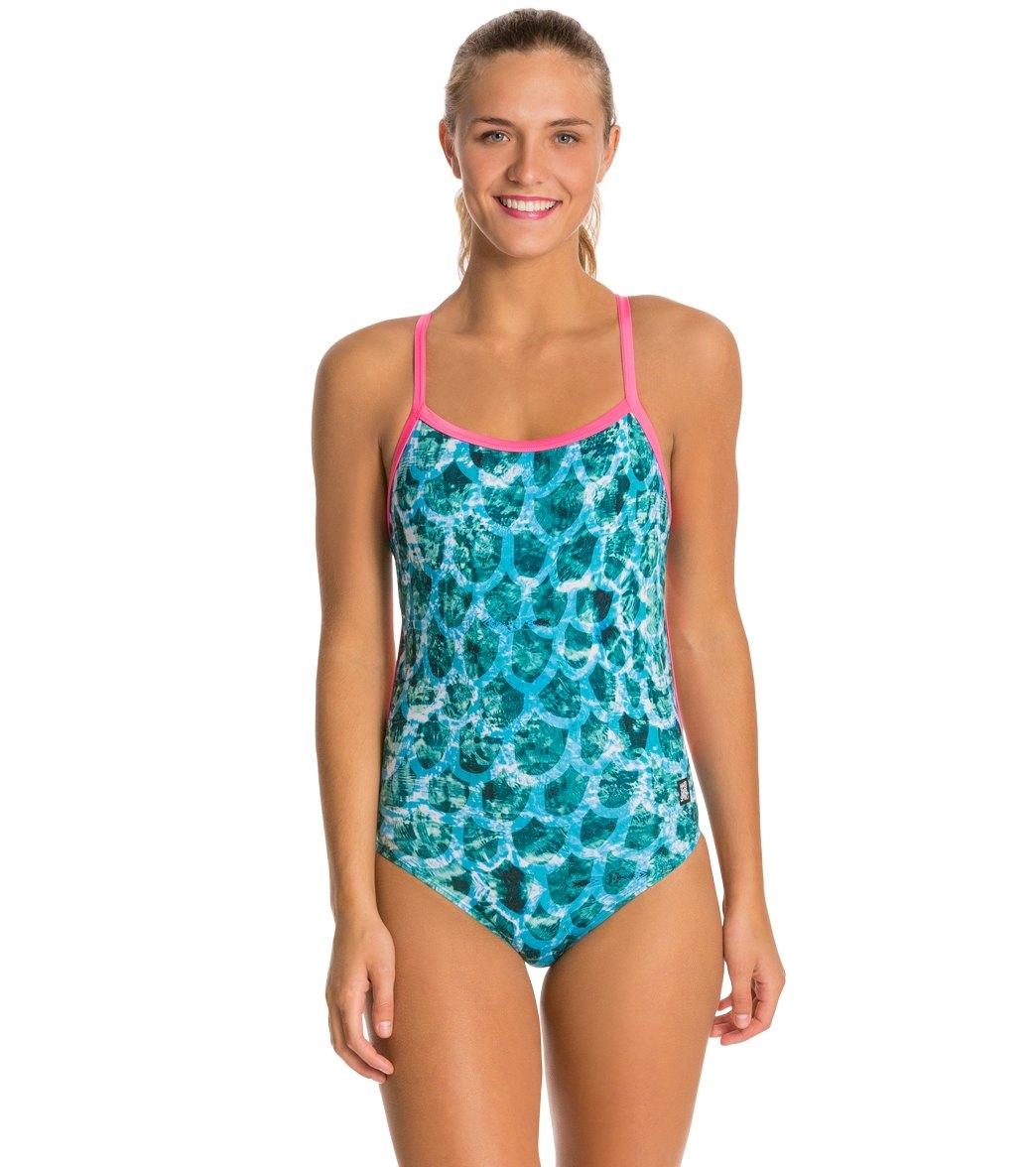 Hardcoresport Women's Mermaid Cali Back One Piece Swimsuit
