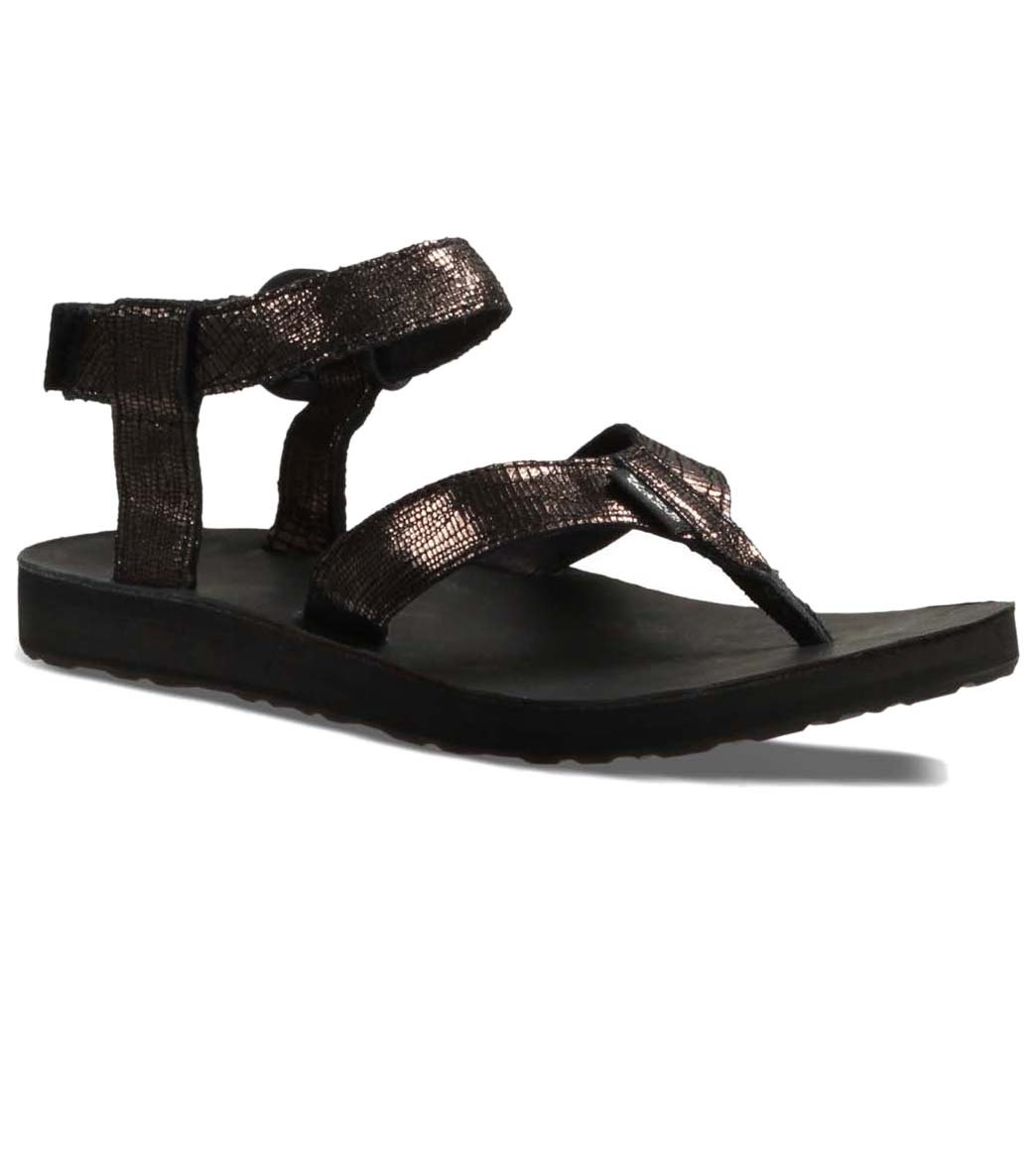 e6436160fdf7 Teva Women s Original Sandal Leather Metallic at SwimOutlet.com ...