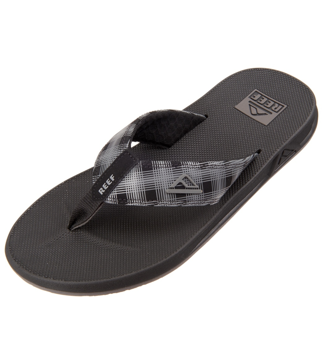 Outlet Shop Offer Eastbay Sale Online Mens Fanning Prints Black Plaid 4 Flip Flops Reef Discount Professional Outlet Wholesale Price Amazing Price Online X9TNbHdcrN
