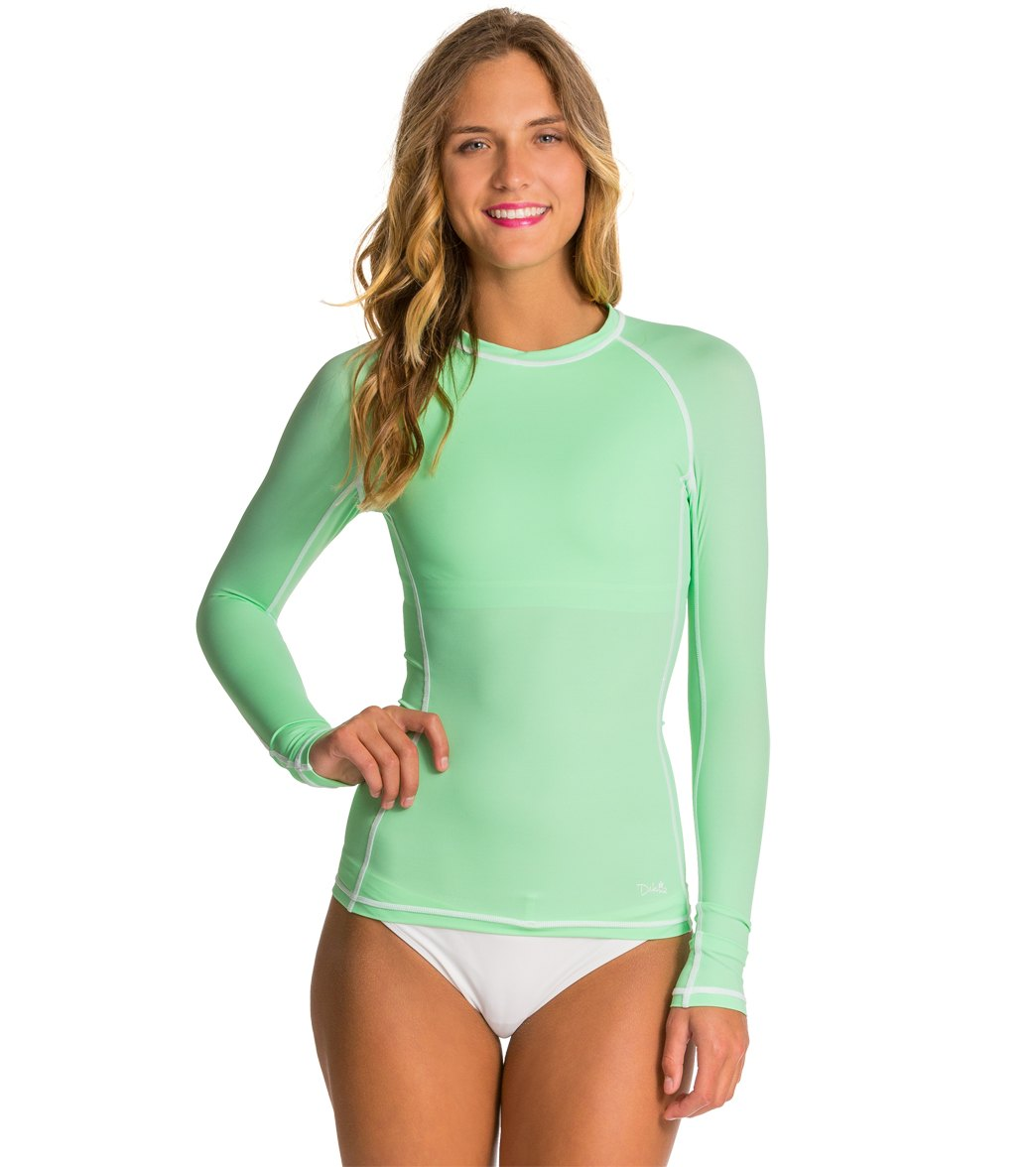 Dakine Amana L/S Rashguard w Shelf Bra at SwimOutlet.com