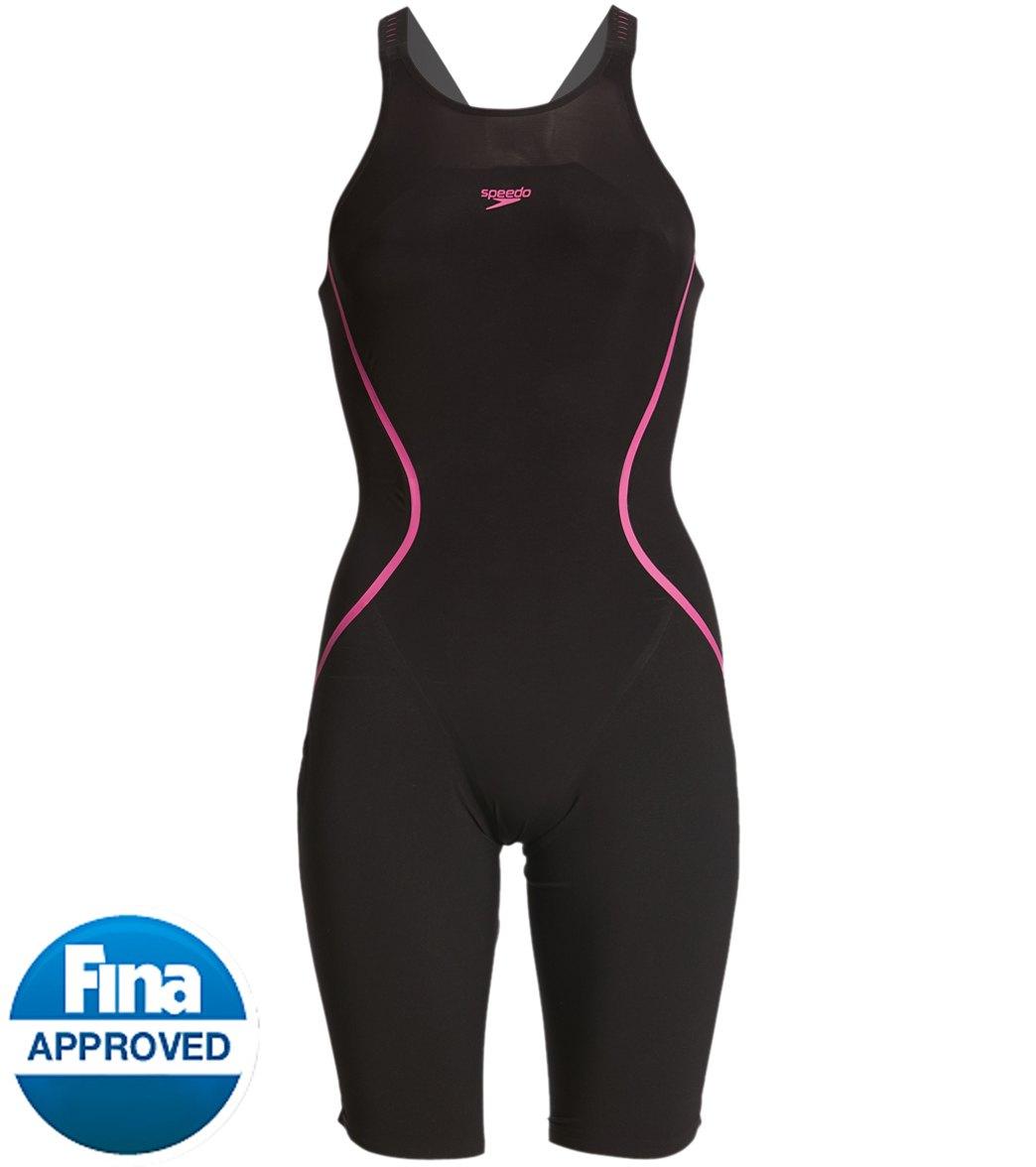 bf5b404c9a90f Speedo Women s LZR Racer X Open Back Kneeskin Tech Suit Swimsuit at  SwimOutlet.com - Free Shipping