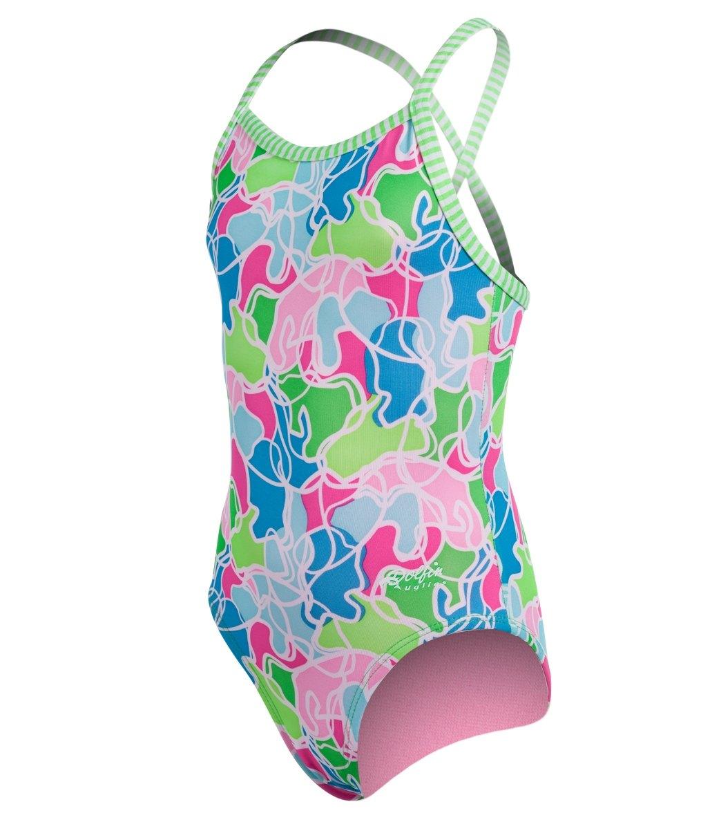 53506fe259df8 Dolfin Little Dolfin Uglies Gidget Toddlers One Piece Swimsuit (2T-6X ...