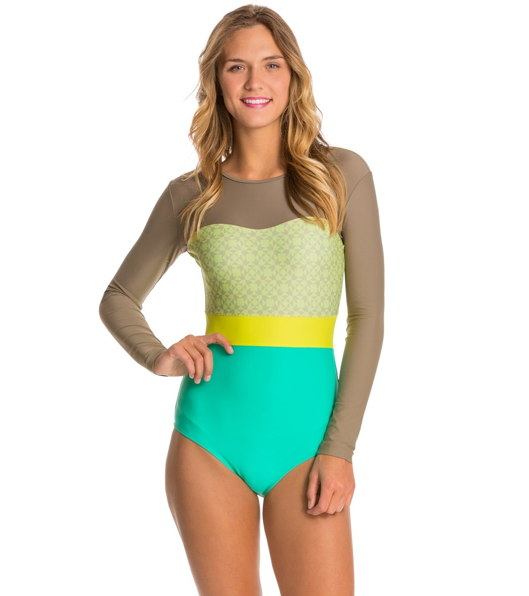Seea Hermosa Tiles LS One Piece Swimsuit Swimsuit at SwimOutlet.com - Free  Shipping 58102ca19