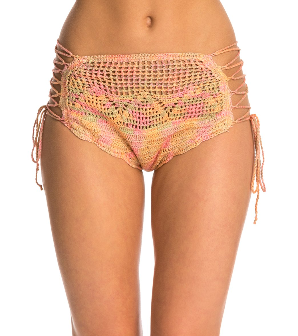bb9c0e8bfb ... Love Birds Crochet High Waist Bikini Bottom. Play Video. MODEL  MEASUREMENTS