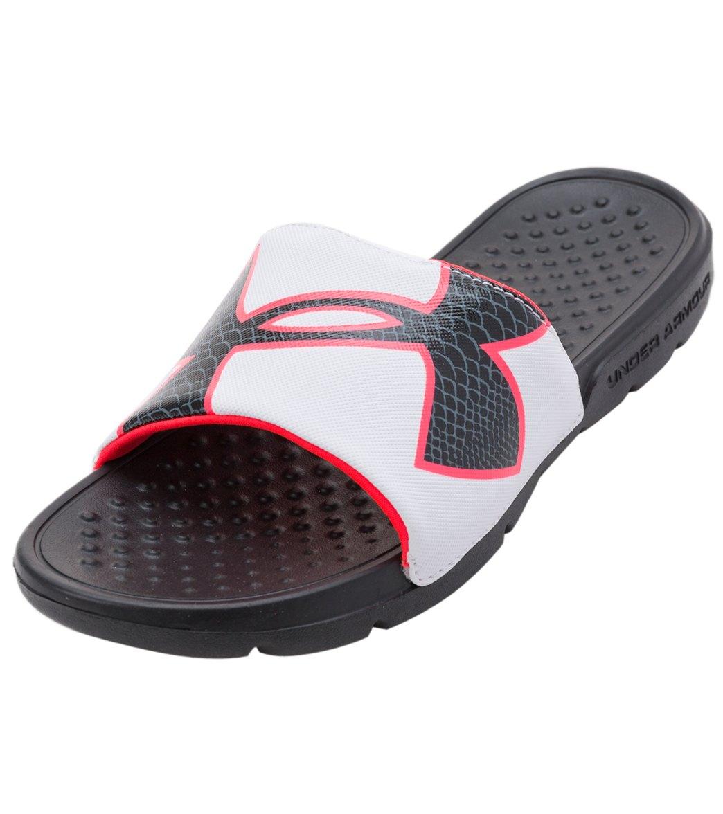 f74ae30e96 Under Armour Women's Strike Rock Slide Sandals