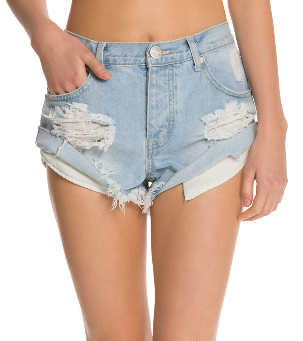 31d22324d One Teaspoon Wilde Bandits Denim Shorts at SwimOutlet.com - Free Shipping