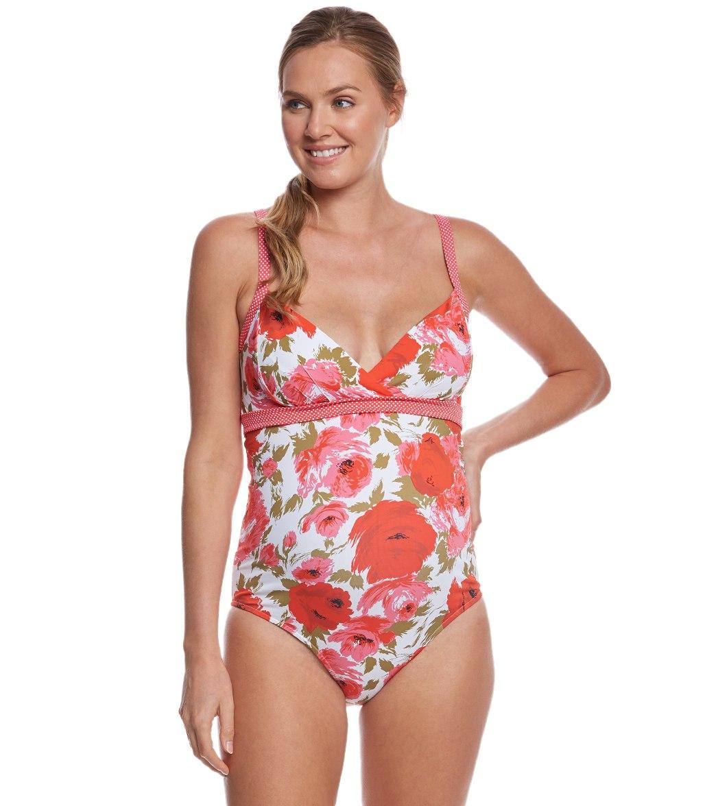 c5bea79968 ... Pez D'or Maternity Montego Bay Floral One Piece Swimsuit. Play Video.  MODEL MEASUREMENTS