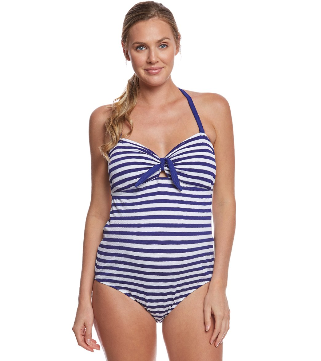 bab8ecd2c8e05 ... Maternity Rimini Textured Marine Striped One Piece Swimsuit. Play  Video. MODEL MEASUREMENTS