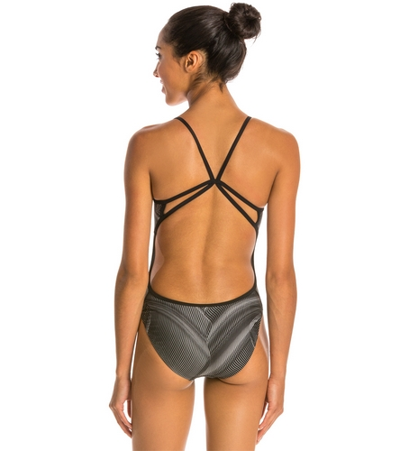 Nike Fly Modern Cut Out Tank Swimsuit At Swimoutlet Com