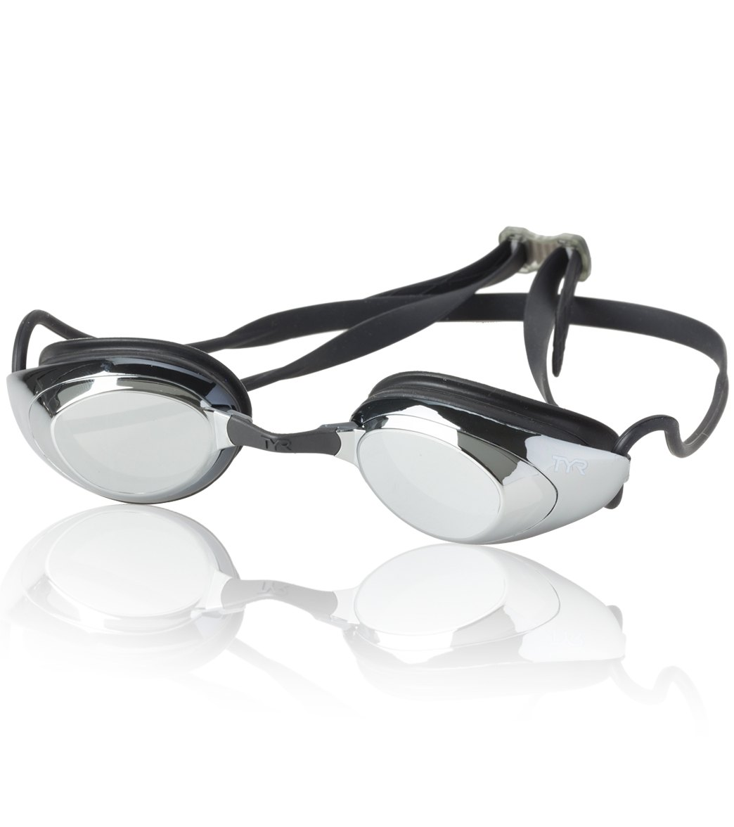 9d74eecd385 TYR Black Hawk Racing Mirrored Performance Goggle at SwimOutlet.com