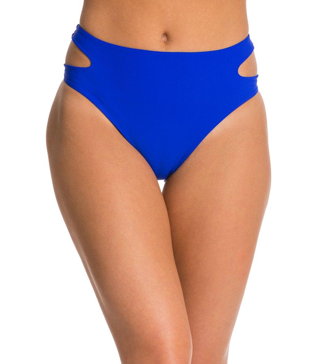 6b16b46fc8 ... Red Carter Splice & Dice Cut Out High Waist Bikini Bottom. MODEL  MEASUREMENTS