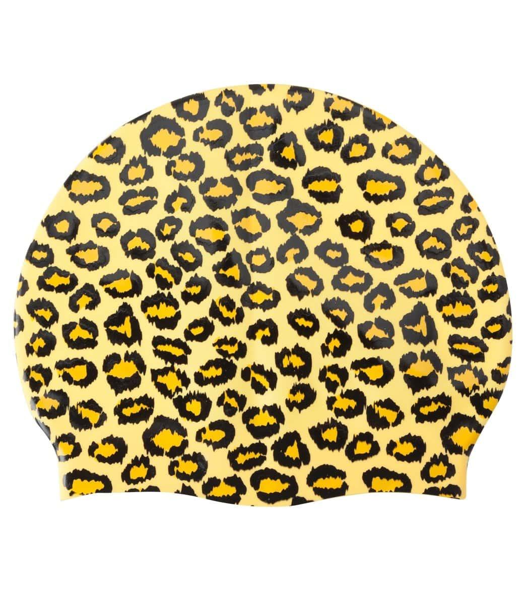 Sporti Cheetah Print Silicone Swim Cap at SwimOutlet.com f3019dc41bfa