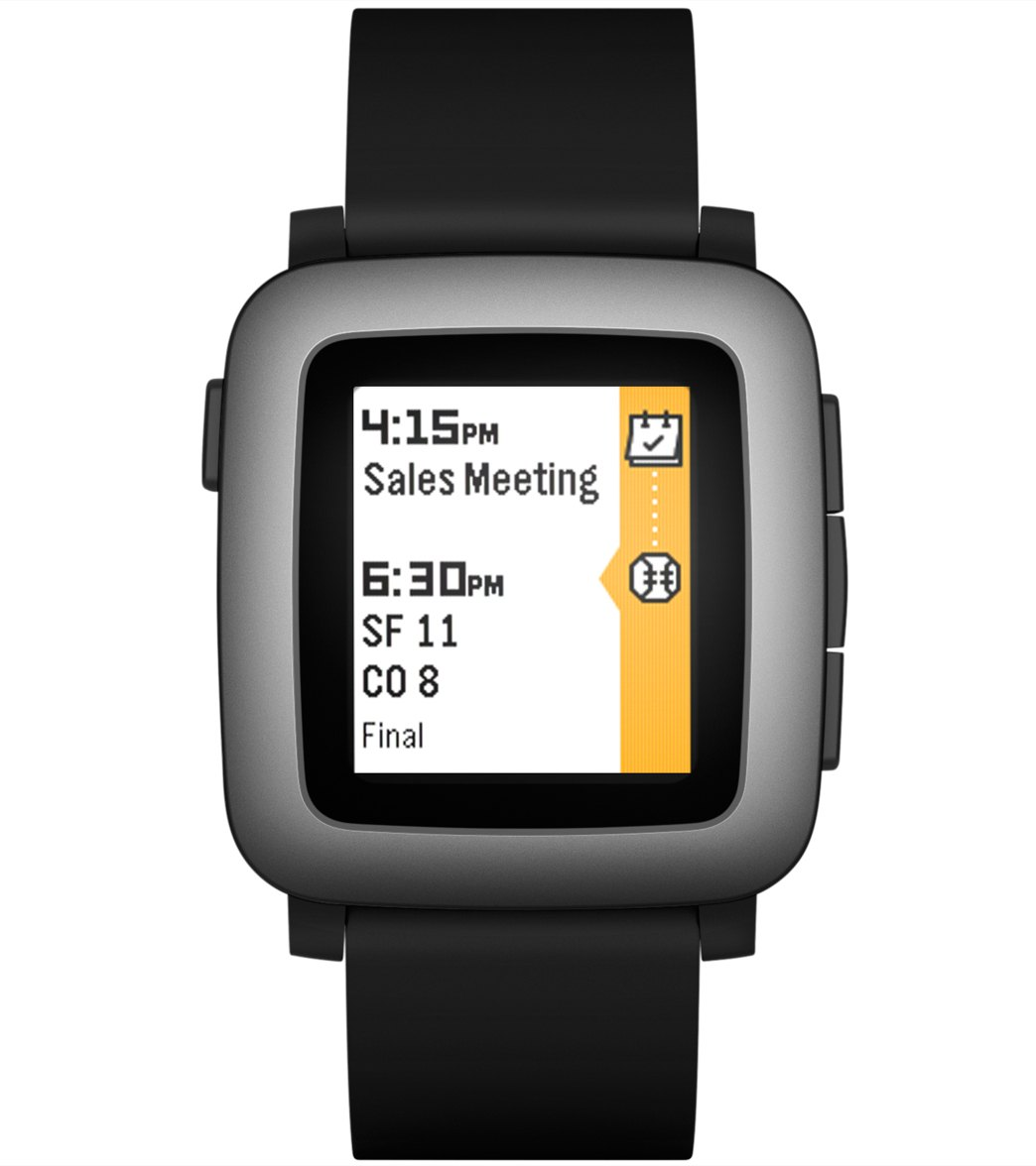 c75e474e61e6 Pebble Time Waterproof Smart Watch with Automatic Lap Counter at SwimOutlet. com - Free Shipping