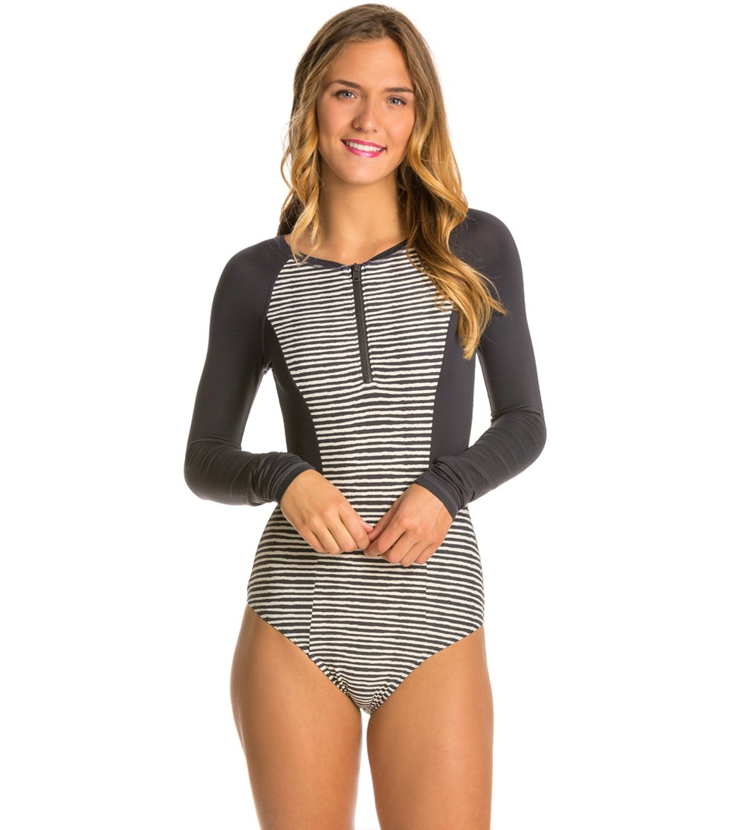 f3156690ac Billabong GI Geo LS Rashguard One Piece Swimsuit at SwimOutlet.com - Free  Shipping