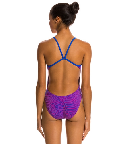 Nike Flow Cut Out Tank One Piece Swimsuit At Swimoutlet
