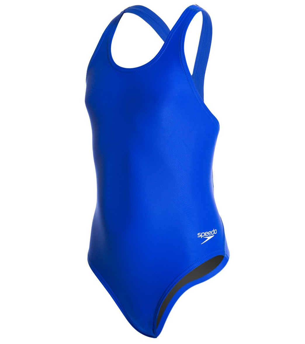 eeea36c964 Speedo PowerFLEX Eco Solid Super Pro Youth Swimsuit at SwimOutlet.com -  Free Shipping