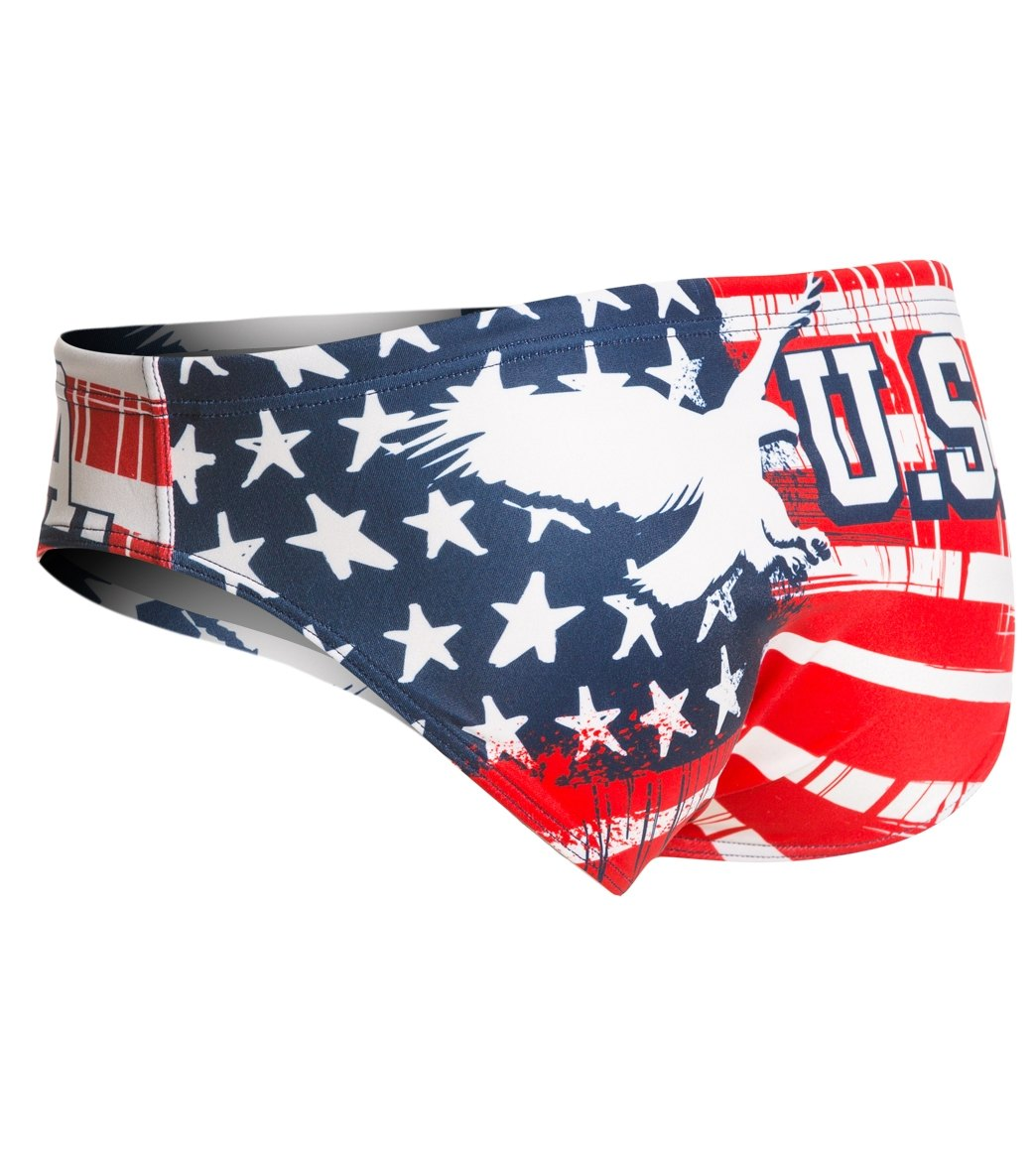 318b3e4b34 Turbo Men's USA Eagle Water Polo Brief at SwimOutlet.com - Free Shipping