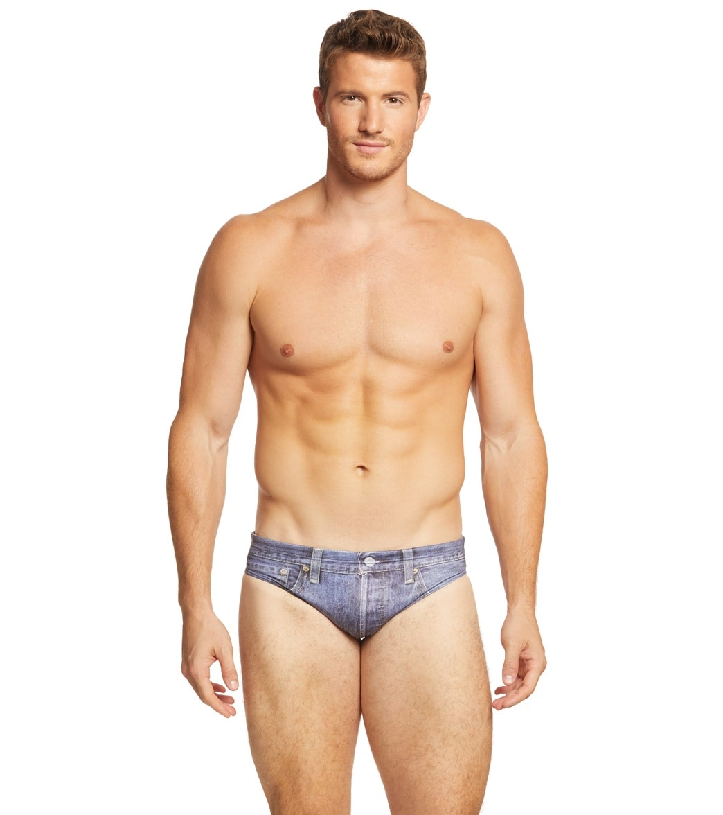 2cf68d5709 Turbo Men's Jean Short Water Polo Brief at SwimOutlet.com - Free ...