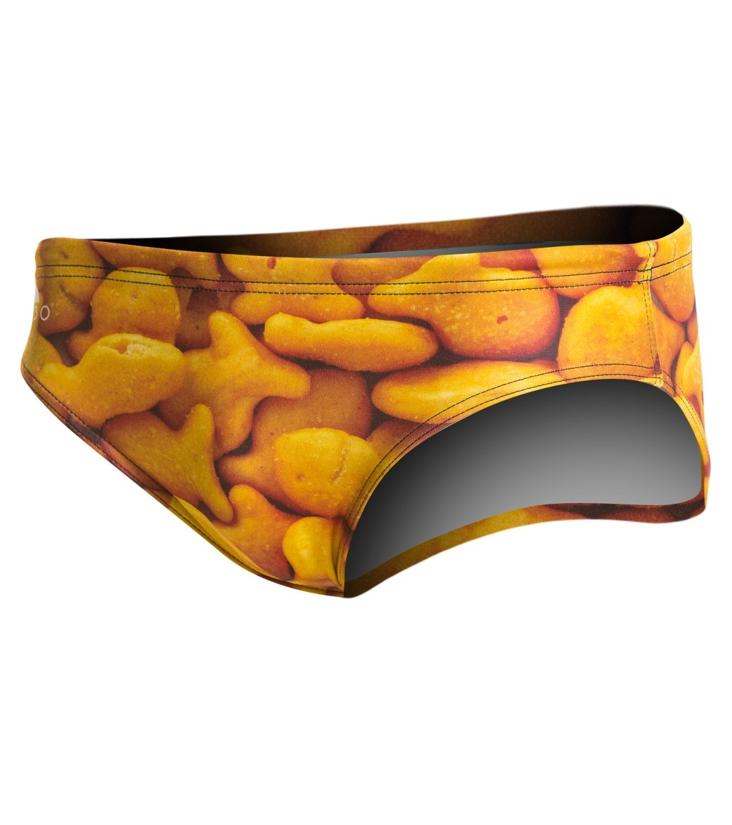 f030afe3cd Turbo Men's Gold Fish Water Polo Brief at SwimOutlet.com - Free ...