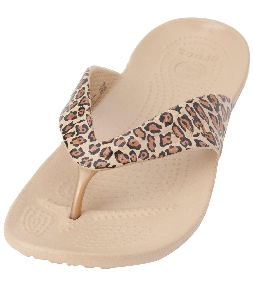 af502e01bb7 Crocs Women s Kaddee Leopard Print Flip Flop at SwimOutlet.com