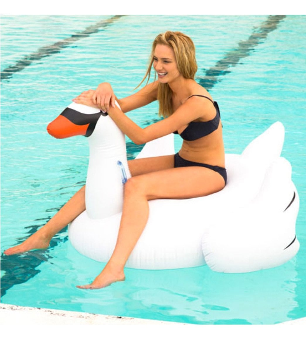 SunnyLife Inflatable Swan Pool Float at SwimOutlet Free Shipping