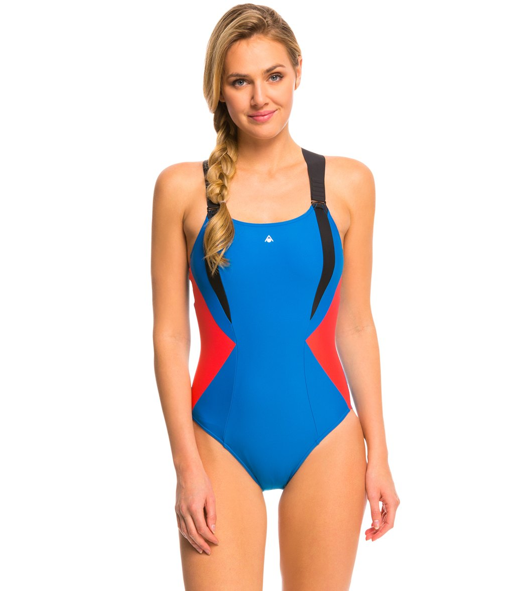 59d0584ee1 Aqua Sphere Siskin One Piece Swimsuit at SwimOutlet.com - Free Shipping