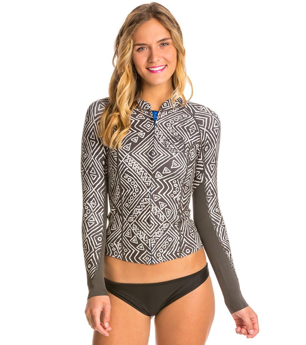 f906c46070 Billabong Women's Print Peeky Front Zip Wetsuit Jacket
