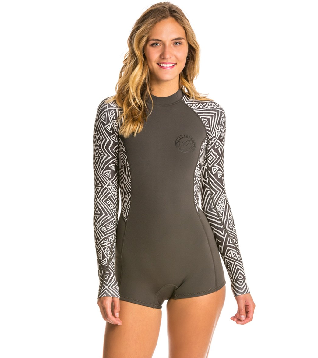 0697d2e4cffd ... Billabong Women's 2MM Spring Fever Long Sleeve Spring Suit Wetsuit.  Play Video. MODEL MEASUREMENTS