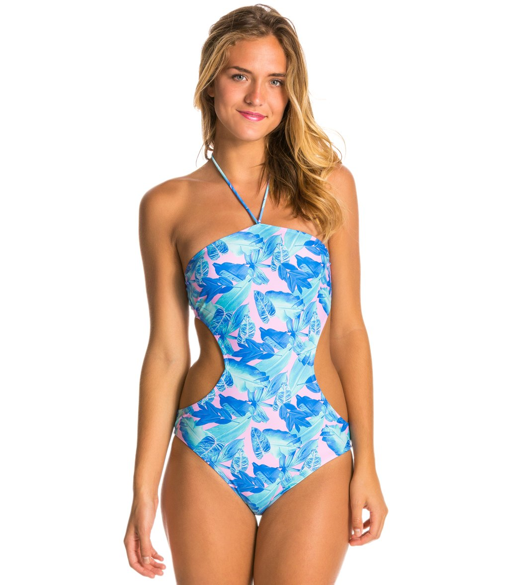 ff0d8b390e2 Motel Palm Glitch Bee Sting One Piece Swimsuit at SwimOutlet.com ...