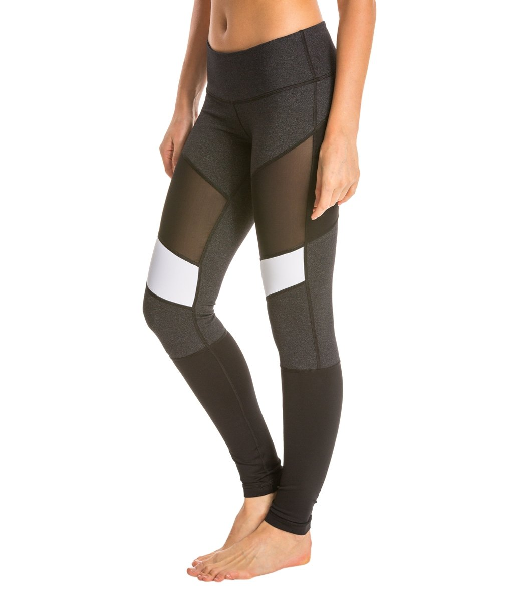 Vimmia New Action Capri Legging Heather Charcoal Small Women's Clothing Clothing, Shoes & Accessories