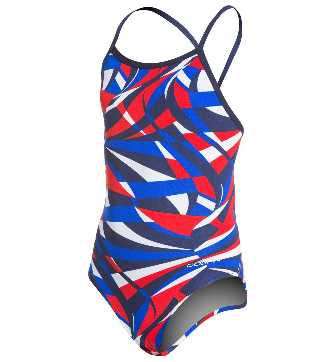 Dolfin Viper Youth V Back One Piece Swimsuit At Swimoutlet