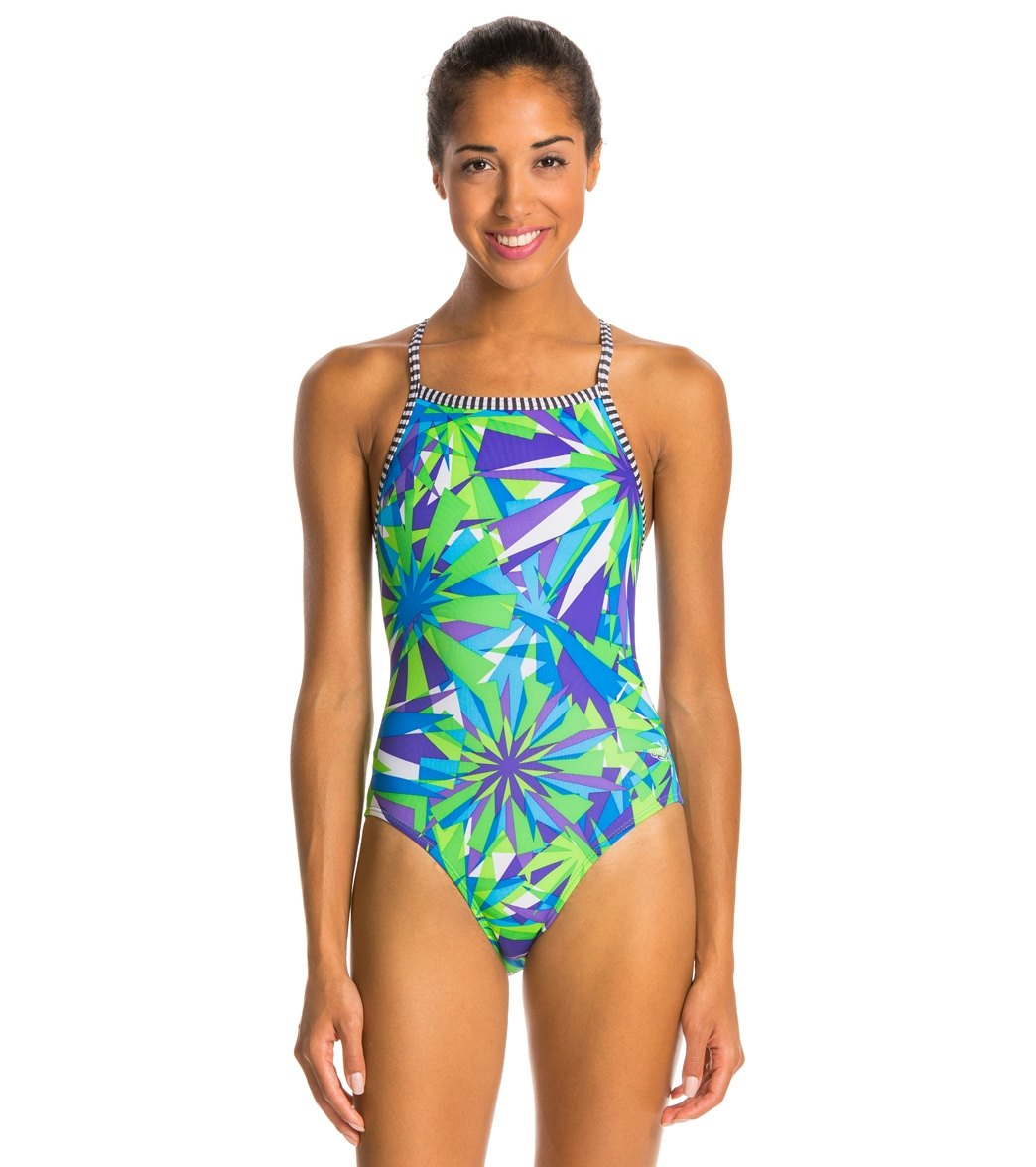 8fbed305e7 Dolfin Uglies Dazzle Women's V-2 Back One Piece Swimsuit at ...