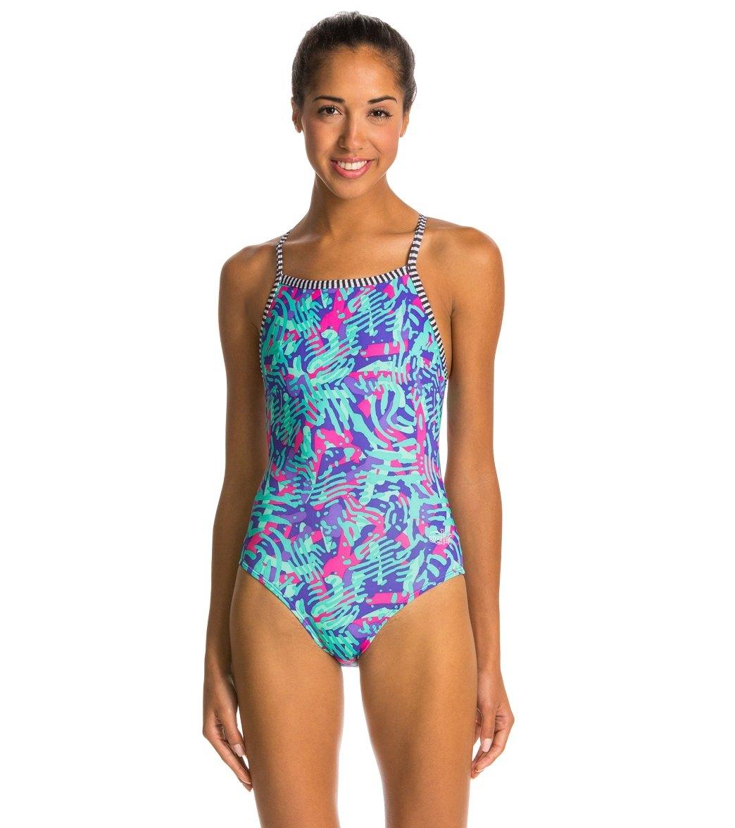 41f54dc6fd Dolfin Uglies Zahara Women's V-2 Back One Piece Swimsuit at ...