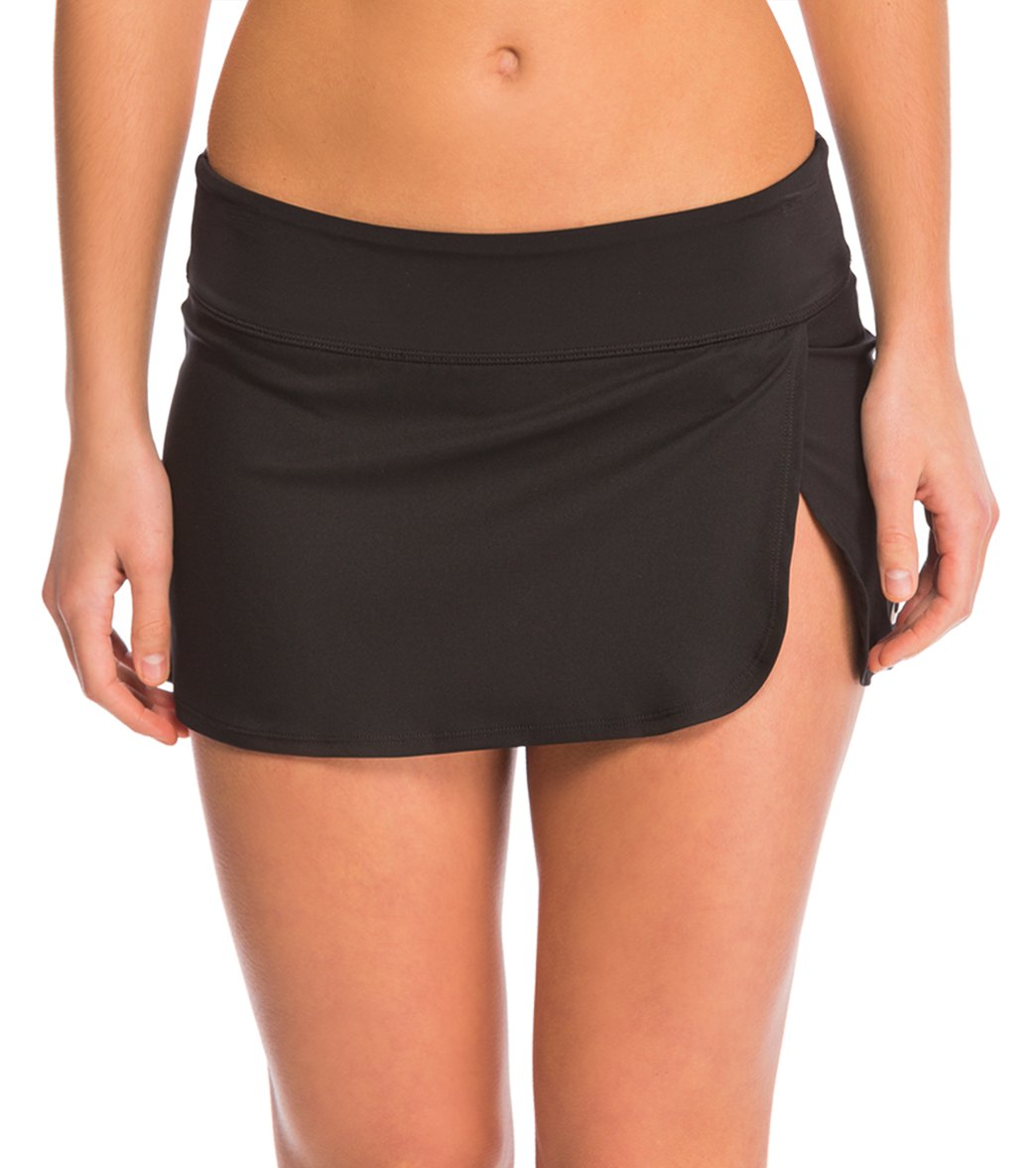 272d20093fe2d Nike Women s Core Solid Swim Skirt at SwimOutlet.com - Free Shipping
