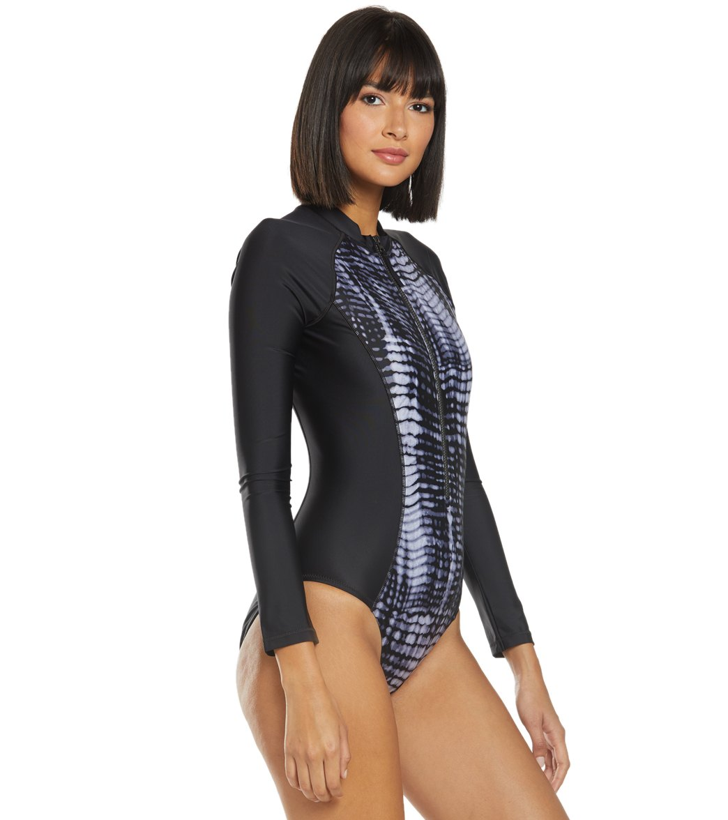 f3584077df Speedo Long Sleeve One Piece Swimsuit at SwimOutlet.com - Free Shipping