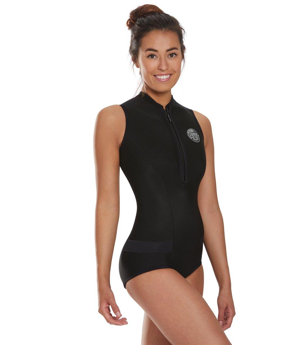 Rip Curl Women s 1mm G-Bomb Chest Zip Cap Sleeve Springsuit Wetsuit ... fa98a1d0e