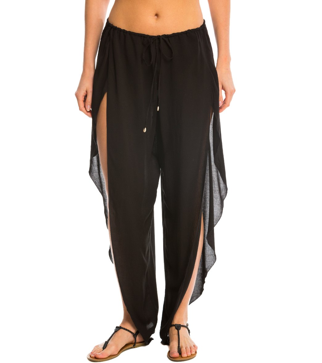 1808d7aa57 Indah Need Want Love Val Solid Drawstring Butterfly Cover Up Pant at  SwimOutlet.com - Free Shipping