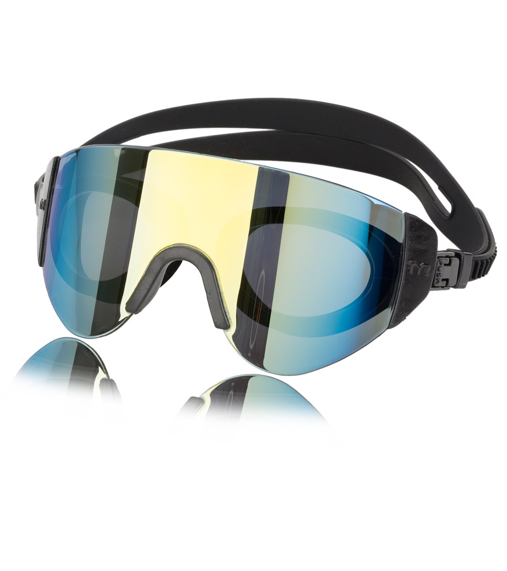 13a4a0e2687 TYR Active Renegade Swimshades Mirrored Goggle at SwimOutlet.com